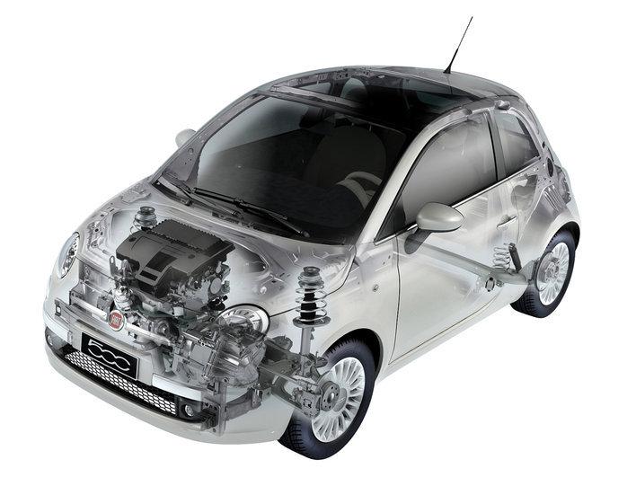 Фото FIAT 500 3-дверный хэтчбек, модельный ряд 2008г