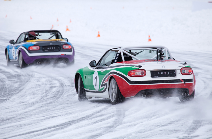 Фото Mazda MX-5 Ice Race 2014 Aori дрифт