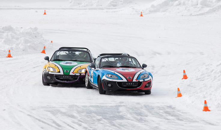 Фото Mazda MX-5 Ice Race 2014 Aori борьба с Австралией