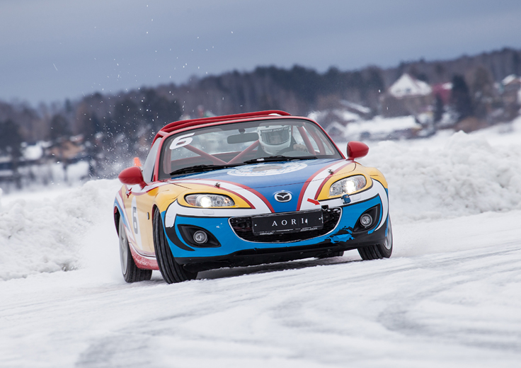 Фото Mazda MX-5 Ice Race 2014 дрифт