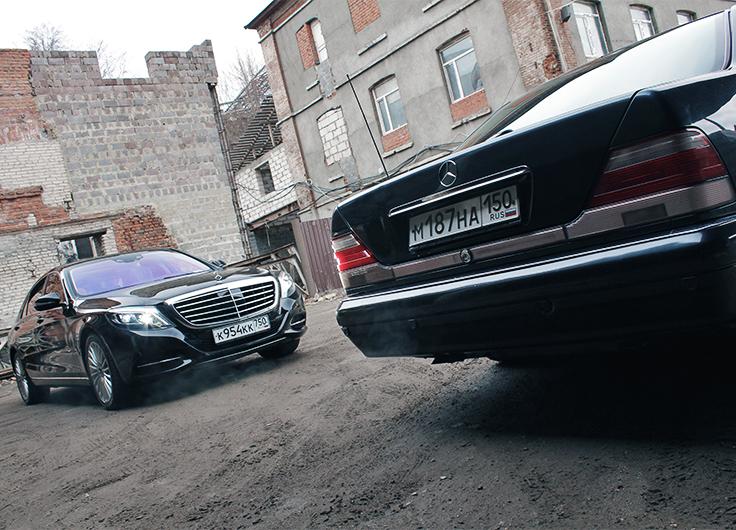 Видео тест драйв Мерседес S Класса W222 и W140
