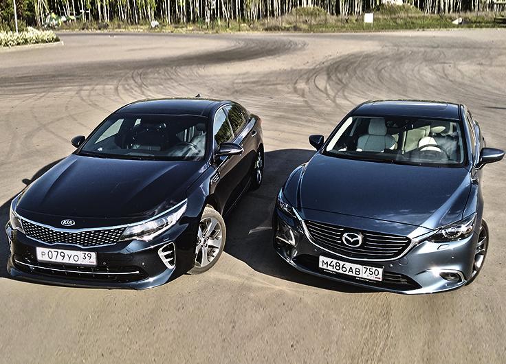 KIA Optima GT против Mazda 6 сравнительный видео тест драйв