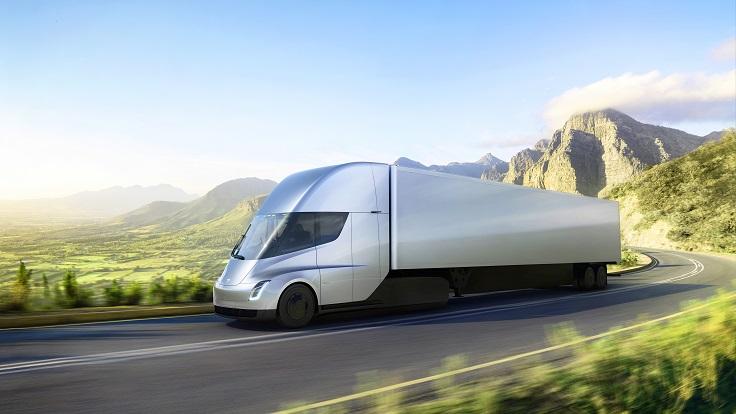 Новый грузовик Тесла разгоняется как сумасшедший