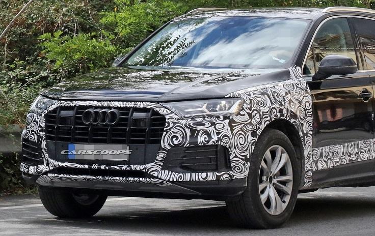 Обновленный Audi Q7 поймали на испытаниях